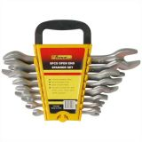 8PCS Double Open End Cr-V Steel Satin Chrome Plated Wrench Set Spanner Set