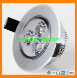 220V 3W Round LED Downlights with Color Temperature Changeable