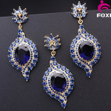 2016 New Trendy Perfect Design Nano Spinel Blue Stone Jewelry Sets