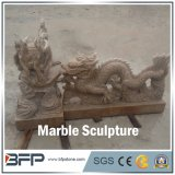Handcarved Marble Sculpture, Animal Statue for Landscape and Garden Decoration