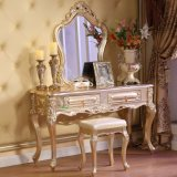 Wooden Bed with Dresser Table for Wood Bedroom Furniture Set