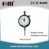 Small Dial Indicator with 0-10mm Range 0.01mm Graduation