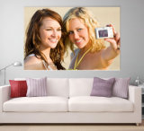 Factory Price Custom Home Decoration Happy Canvas Prints From Your Photos