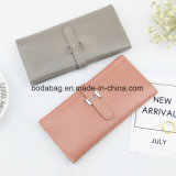 No MOQ Brand Genuine Leather Women Fashion Female Candy Color Purse Lady Multi-Function Zipper Clutch Wallet as Small Accessory for Wholesale (BDX-171003)