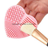 Cosmetic Makeup Brush Cleaner Finger Glove Heart Shaped Silicone Scrubbing Pad Esg10195