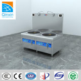 Large Capacity Two Burners Efficient Heating Induction Deep Soup Cooker