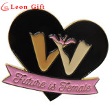 Custom Wholesale Heart Shape Enamel Lapel Pins for Female