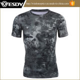 2017 Wholesale Black Python Cheaper Camouflage Quick-Drying T-Shirt