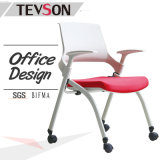 Low Back Plastic Folding Task Office Visitor Meeting Reception Chair with Plastic Arms