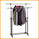 Powder Coated Two Layer Telescopic Garment Hanger Jp-Cr402