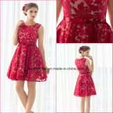 Short Lace Stretch Satin Party Prom Dress Cocktail Dresses CZ01