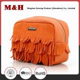 Yellow PU Leather Storage Cosmetic Bag