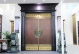 The New Chinese Style of Copper Door with Wood Material