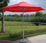 Generic 9FT Red Sunshade Umbrella Metal Pole Outdoor Garden Yard Patio Beach Market Cafe