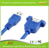 USB 3.0 Am to Af Mount Panel Cable