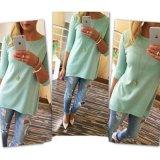 1PCS Ladies Female Beach Casual Tunics Women′s Fashion Shirt 3/4 Sleeve Long Tops Women Cloth