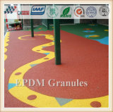 Cheap Outdoor Rubber Flooring, EPDM Rubber Granule for Children Playground