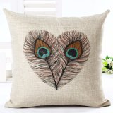 Feather Style Home Decorative Pillow Printed Throw Car Home Cushion Pillow
