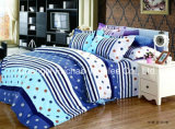 Colorful Flower Microfiber Plain Dyed Cheap Bed Sheet Set Bedding Set Home Textile
