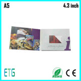 4.3 Inch Video Greeting Card with Customized Printing for Hot Sale