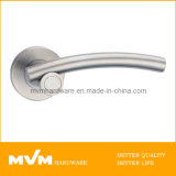 Stainless Steel Door Handle on Rose (S1037)