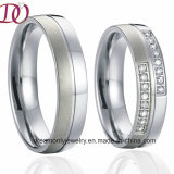 Unique Pure Titanium Love Wedding Band Couple Rings Pair Handmade Men and Women Jewelry