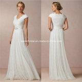 Chiffon Empire Back Zipper A-Line Bridal Wedding Dress B-8