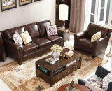 America Style Living Room Leather Sofa, Ikea Sofa (1704)
