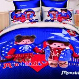 Polyester Printed Bedding Set King Queen Twin Size Kids Cartoon