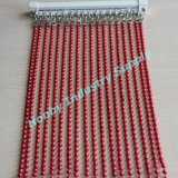 Red 6mm Size Glossy Surface Beaded Metal Ball Chain Curtain