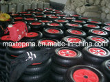 16′′x4.00-8 Rubber Wheel with Plastic Rim