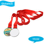 Customized Sublimation Metal Silver Medal with Heat Press Blank