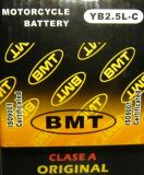 High Quality Motorcycle Battery (YB2.5L-C)