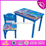 New Design Home / School / Cartoon Wooden Boys Table and Chairs W08g199