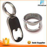 Blank Silver Plated Metal Keychain Bottle Opener