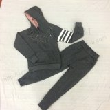 Girl Children′s Fleece Sports Suit for Kids Clothing Sq-6312