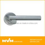 Stainless Steel Door Handle on Rose (S1127)