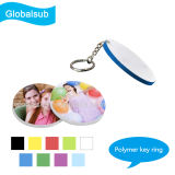 Sublimation Polymer Keychain for Picture Printing 39mm Round