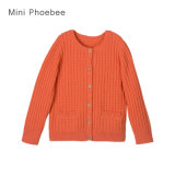 Phoebee Wool Children Wear Girls Knitted Sweater for Winter