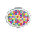 Colorful Oval Makeup Cheap Pocket Mirror
