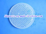 Opaque Quartz Plate with Holes, Playing Porous Silica Plate, Quartz Sieve