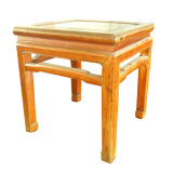 Chinese Old Square Wooden Stool Lws079