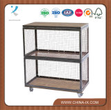 Retail Display Unit - Two Tier Unit with Casters