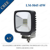 "4.3"" IP67 10-30V CREE Flood Spot Beam High Bright off Road Square 45W LED Work Light"