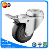 Hollow Kingpin PU Medical Caster Wheels with Full Brake for Hospital Beds