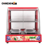 Hot Selling Curved Glass Food Display Warmer with Ce Approval