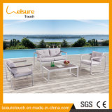 Patio Garden Table Set Powder Coated Aluminum Outdoor Furniture with Square Desk