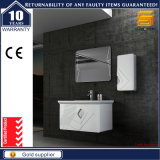 Wall Mounted White Wooden Bathroom Furniture Cabinet with Wash Basin
