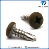 Brown Painted Head 304/316/410/18-8 Stainless Steel Self Drilling Tek Screw
