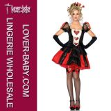 Red Heart Dark Queen Carnival Girl Costume (L1413)